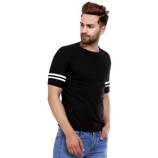 Klick2Style Men Half Sleeves Tshirt Black