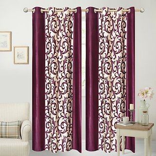 MHDECOR Polyester Window Curtain 152 cm Pack of 2