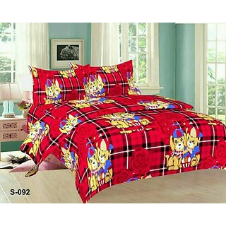 MHDecor Polycotton Double Cartoon Bedsheet