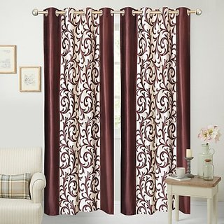 MHDECOR Polyester Door Curtain 213 cm Pack of 2