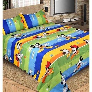 MHDecor Cotton Double Cartoon Bedsheet