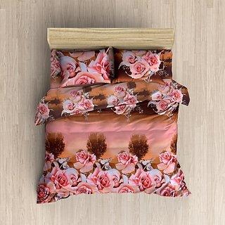 MHDecor 120 TC Cotton Double Printed Bedsheet