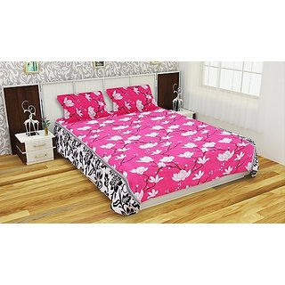 MHDecor 120 TC Polycotton Double King Floral Bedsheet