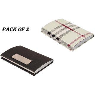 Mr. Rock RFID ATM/Visiting/Card Holder,PAN/Business Card Holder, 206-A+Burbery Card Holder FOR MEN WOMEN (Pack Of 2)