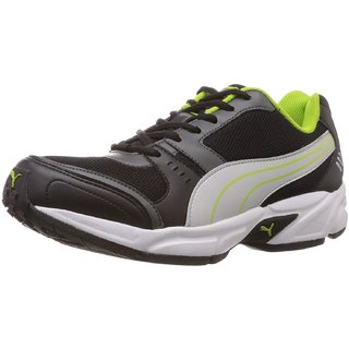 PUMA Mens (Black Green Silver) Running Shoes