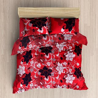 Polycotton 3D Double bedsheet with 2 Pillow Covers ( PL-011)