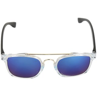 Eddy's  DAPPER EURO HORNED RIM BLUE  SUNGLASSES
