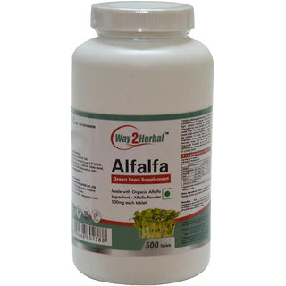 Way2Herbal Alfalfa 500 Tablets