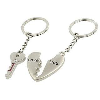 Anishop Love Lock Key Chain Silver MultiPurpose keychain for car,bike,cycle and home keys