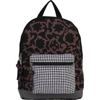 Anekaant Flora Brown Canvas Backpack