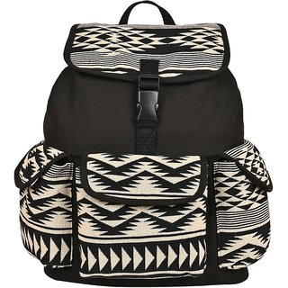 dc88429d98 Buy Anekaant Monochrome Black Canvas Backpack Online - Get 45% Off