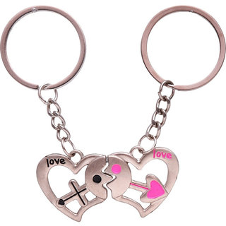 Anishop Magnetic Key Chain Silver MultiPurpose keychain for car,bike,cycle and home keys