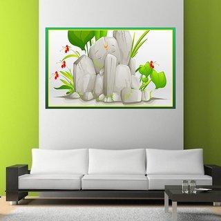 Wall Sticker Lord Ganesha Design (Cover Area :- 36 X 23 inch)