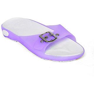 Vaniya Shoes Purple Slippers