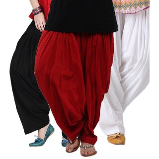 I Shop Traditional Patiala Salwar 100 Cotton Free Size