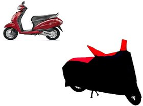 AutoAge Two Wheeler Red+Black Cover for Honda Activa 4G