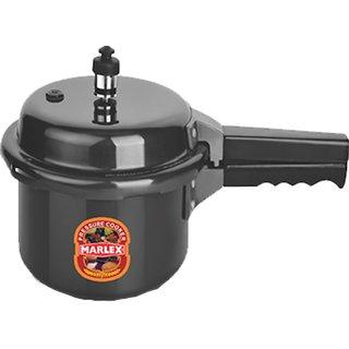 Marlex Hard Anodised Outer Lid Regular Premium 3 L Pressure Cooker (Hard Anodized)