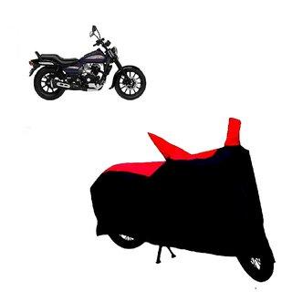 AutoAge Two Wheeler Red+Black Cover for Bajaj Avenger 150 Street