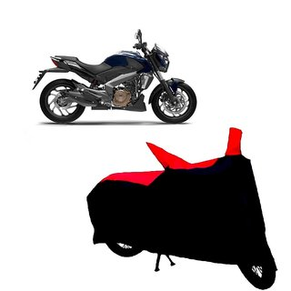 AutoAge Two Wheeler Red+Black Cover for Bajaj Dominar 400