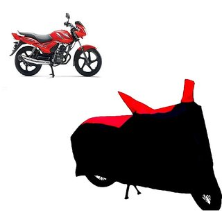 AutoAge Two Wheeler Red+Black Cover for TVS Star City