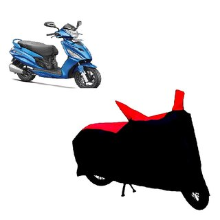 AutoAge Two Wheeler Red+Black Cover for Hero Passion Pro