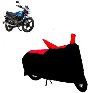 AutoAge Two Wheeler Red+Black Cover for LML Freedom LS