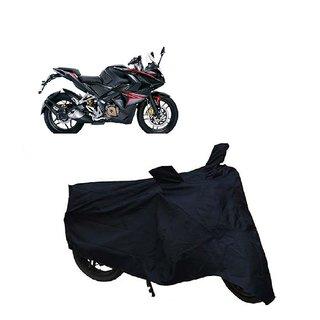 AutoAge Two Wheeler Black Cover for Bajaj Pulsar RS 200