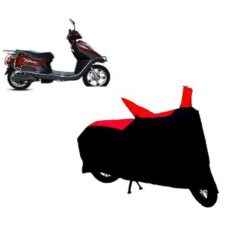AutoAge Two Wheeler Red+Black Cover for Hero Electric Bikes Electric Flash
