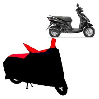 AutoAge Two Wheeler Red+Black Cover for Suzuki Lets