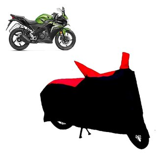 AutoAge Two Wheeler Red+Black Cover for Honda CBR 150R