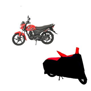 AutoAge Two Wheeler Red+Black Cover for Suzuki Hayate