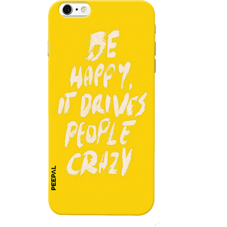 PEEPAL iPhone6-6s Designer & Printed Case Cover 3D Printing Quote Be Happy Design