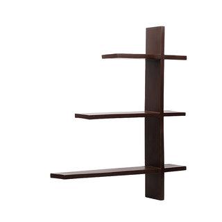 New Look 3 Tier Black Wood Wall Shelf MW20