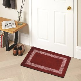 Home Berry Cotton Mat Red 15 Inch* 23 Inch 1 Piece