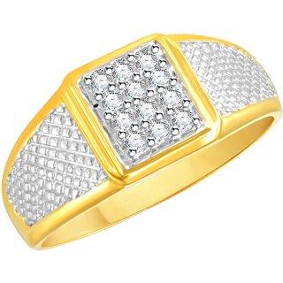 Vidhi Jewels Gold Plated Stunning Alloy  Brass Finger Ring for Men VFR307G