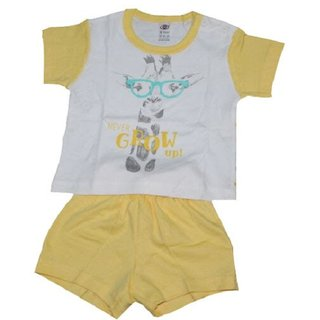 Krivi Zero Baby White with Blue Never Grow Up Boys Top and Bottom Sets