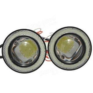 LED FOG ANGEL WHITE LIGHT HIGH INTENSITY LAMPSET OF 2PC 3.5 INCH