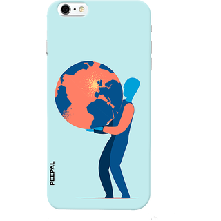 PEEPAL iPhone6-6s Designer & Printed Case Cover 3D Printing Earth Design