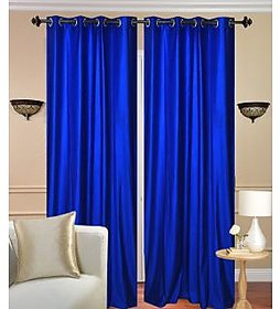 Angel homes Nature Eyelete royal  blue single door Curtains size-4X7  (1CR025)
