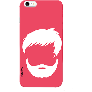 PEEPAL iPhone6-6s Designer & Printed Case Cover 3D Printing Beard Design