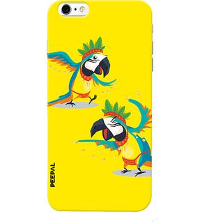 PEEPAL iPhone6-6s Designer & Printed Case Cover 3D Printing Parrot Argument Design