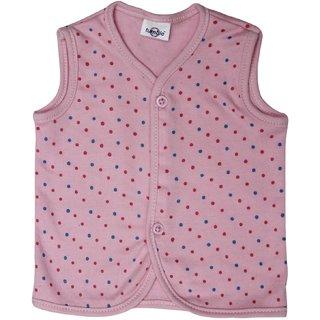 Tumble Pink Printed Sleeveless Vest
