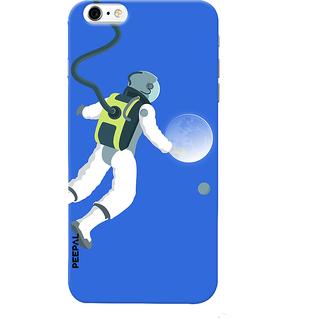 PEEPAL iPhone6-6s Designer & Printed Case Cover 3D Printing Moon Traveler Design