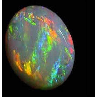 Jaipur Gemstone 10.25 ratti fire opal with 5 mukhi rudraksha