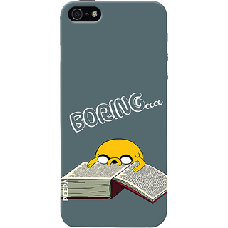 PEEPAL iPhone5-5s Designer & Printed Case Cover 3D Printing Studying is Boring Design