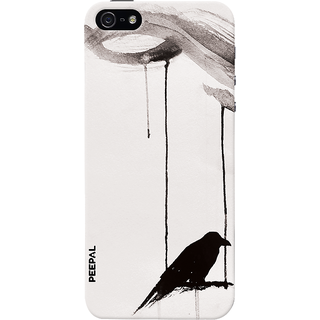 PEEPAL iPhone5-5s Designer & Printed Case Cover 3D Printing Lonely Crow Design