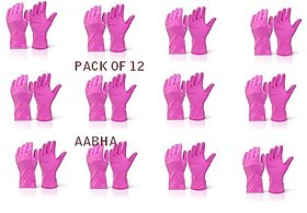 AAbha Household kitchen rubber gloves ( Colour May Change )
