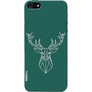 PEEPAL iPhone5-5s Designer & Printed Case Cover 3D Printing Designer Deer Design