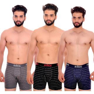 Zotic Men's Trunk'H' Underwear(ST01)- Pack Of 3