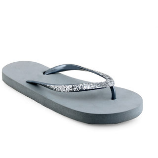 Vaniya Shoes Grey Slippers
